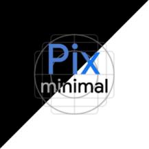 دانلود آخرین نسخه آیکون پک Pix Minimal Black/White